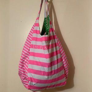 Never used. Striped Victoria Secret tote bag
